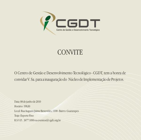 Arte CGDT - Convite Interno