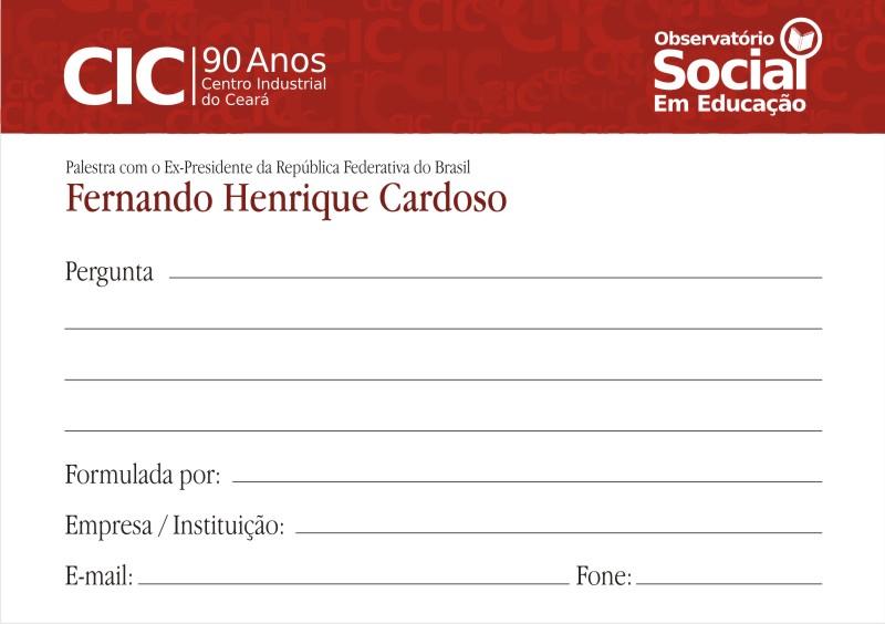 CIC 90Anos - Arte Ficha para Perguntas Curvas