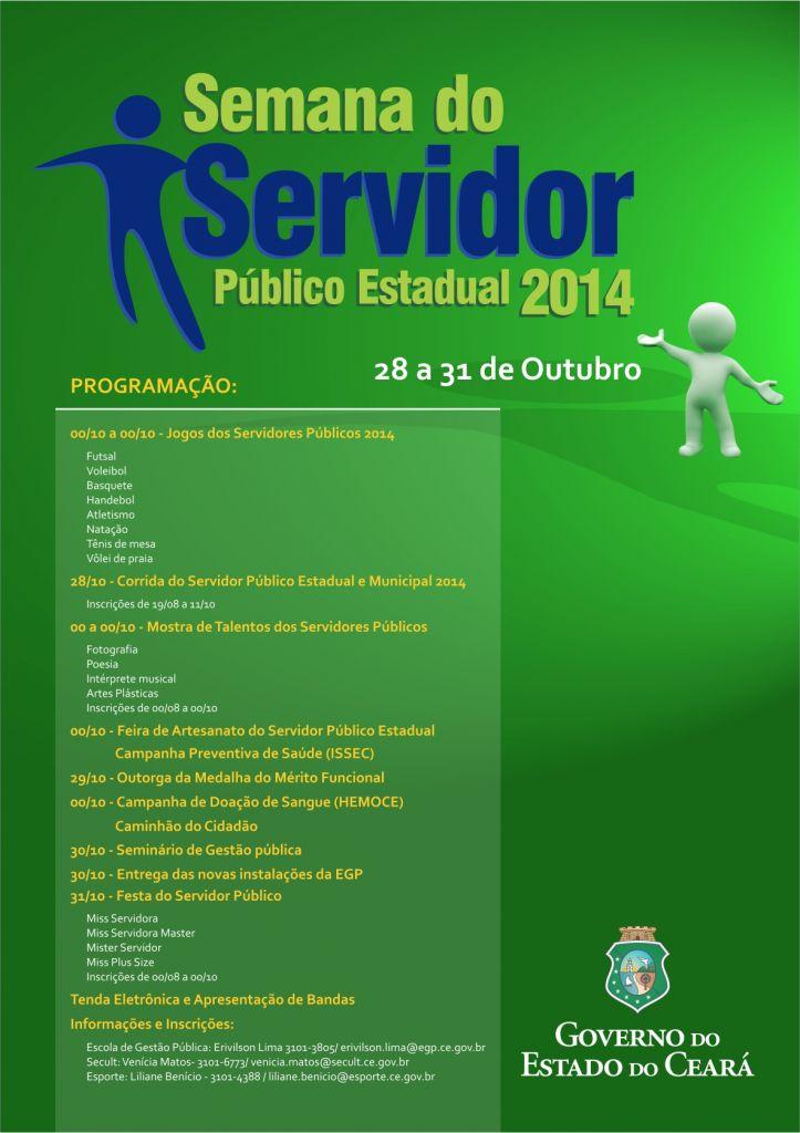 Cartaz Semana do Servidor 2014