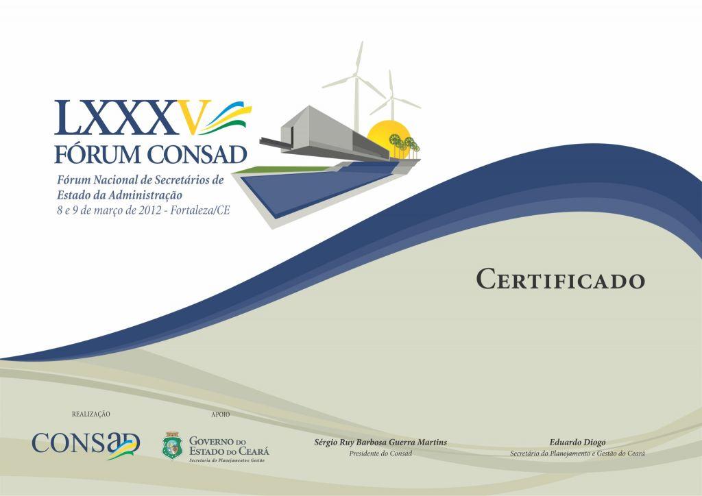 Consad - Certificado