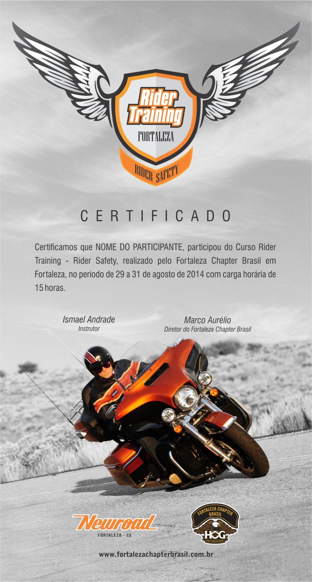 Rider Training - Certificado T2