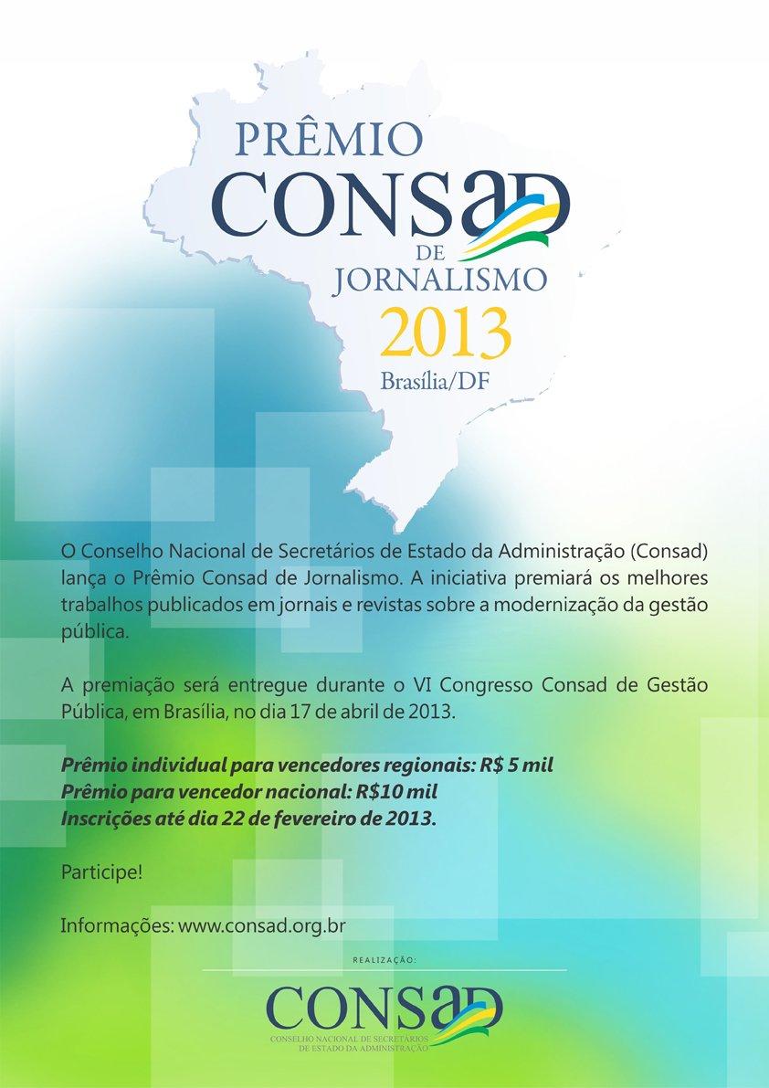 VI Congresso Consad - Cartaz Premio Consad